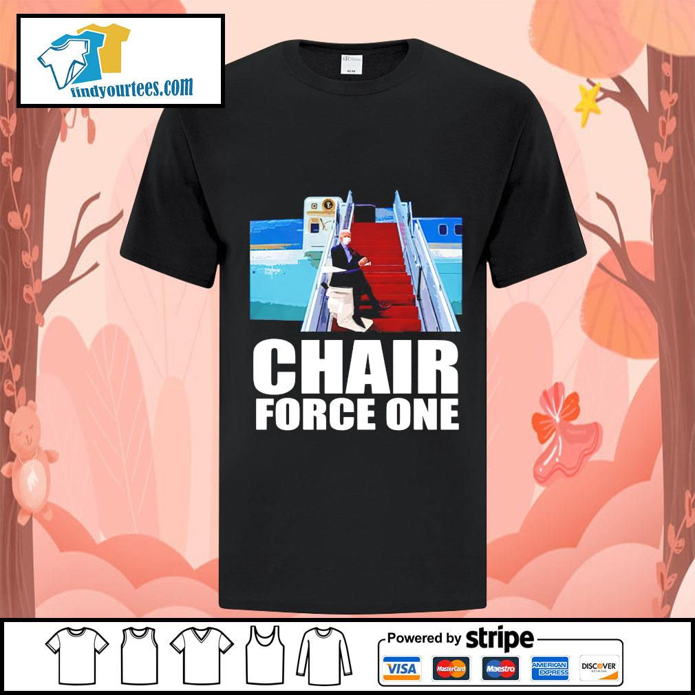 Biden chair force one falls on stairs shirt