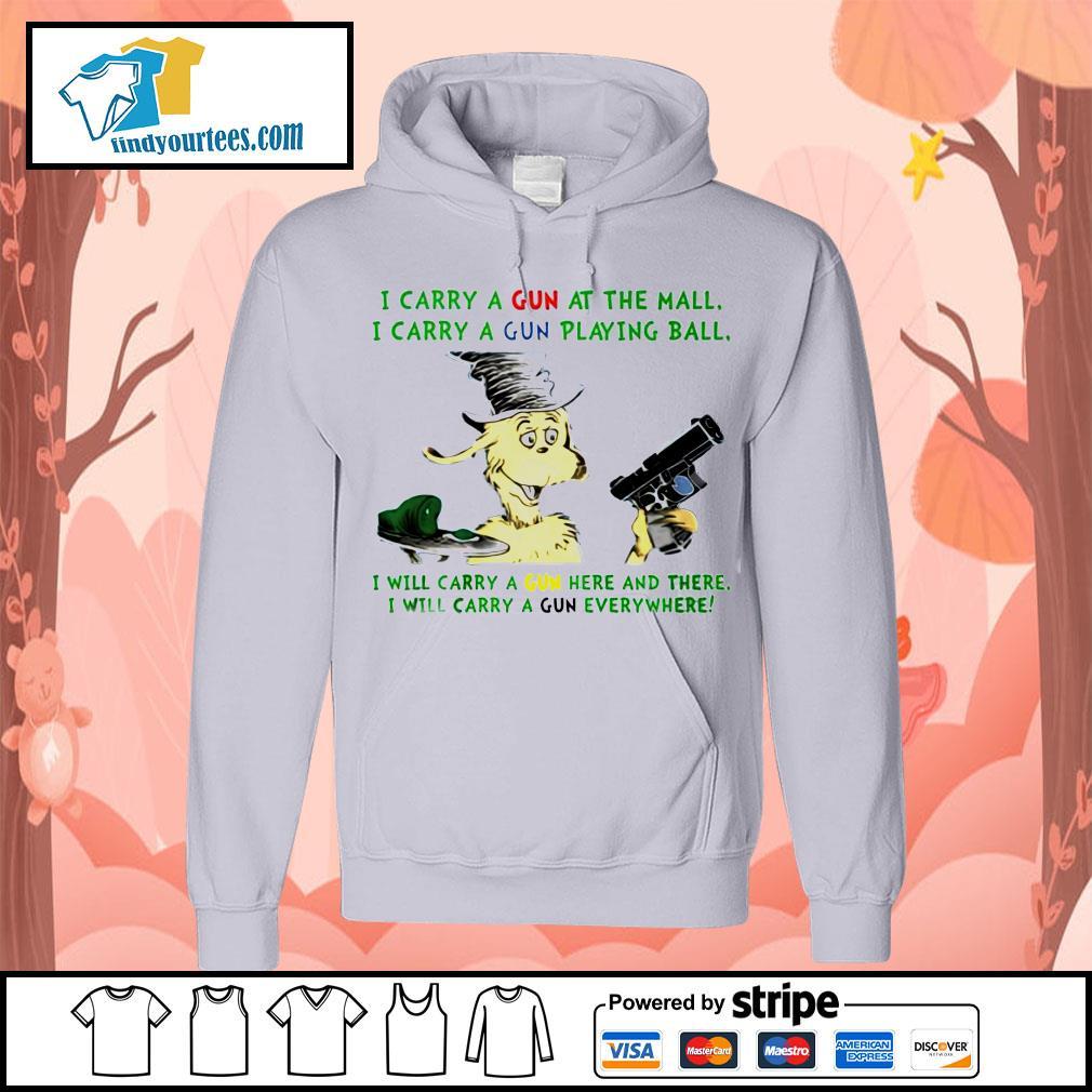 Dr Seuss i carry a gun at the mall i carry a gun playing ball Hoodie