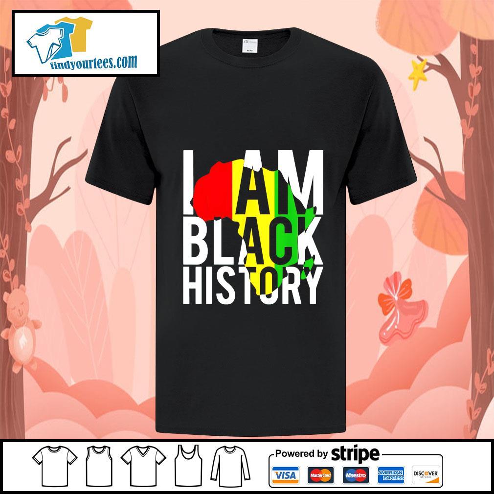 I am black history africa shirt