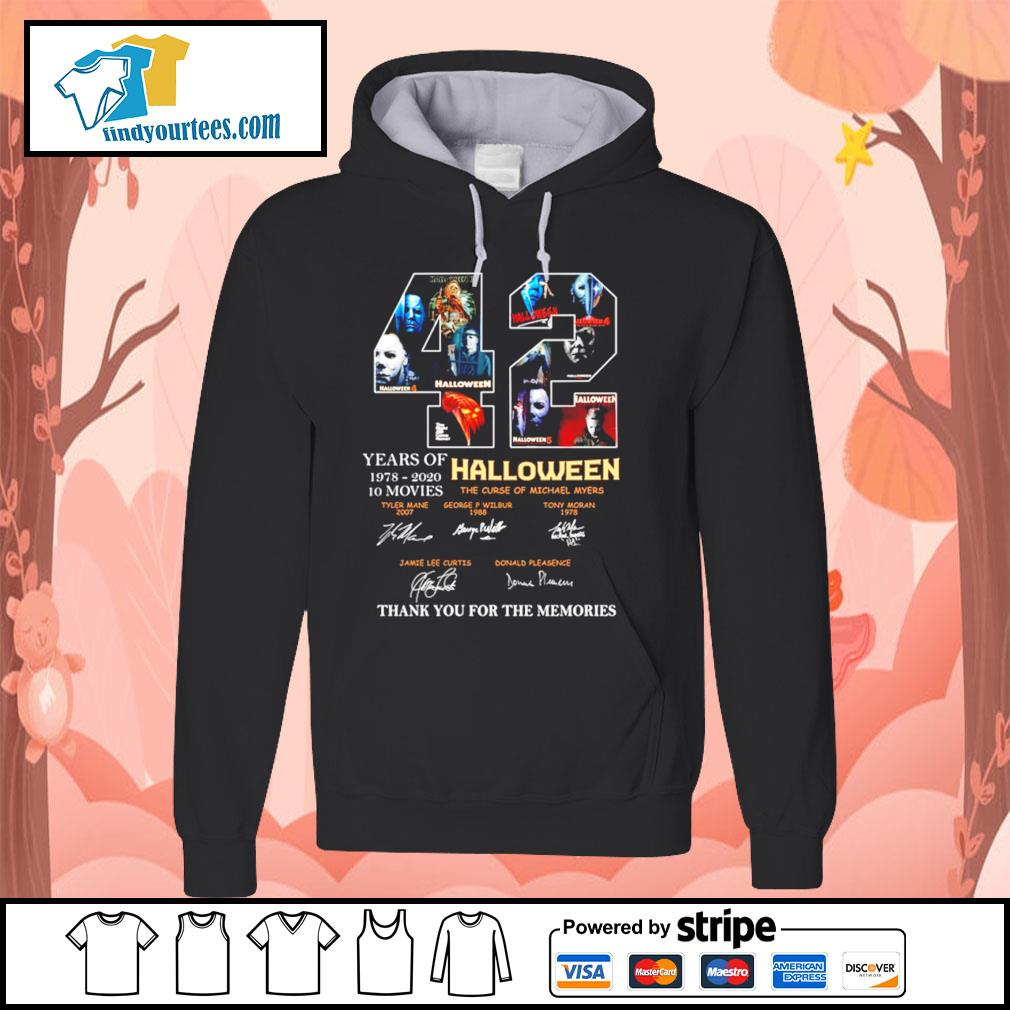 42 years of 1978 2020 10 movies Halloween thank you for the memories s Hoodie