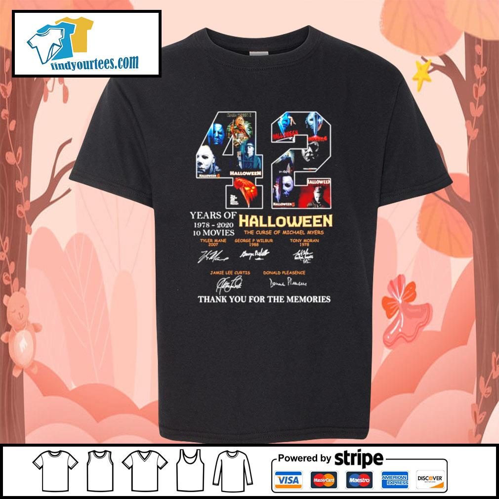 42 years of 1978 2020 10 movies Halloween thank you for the memories s Kid-T-shirt