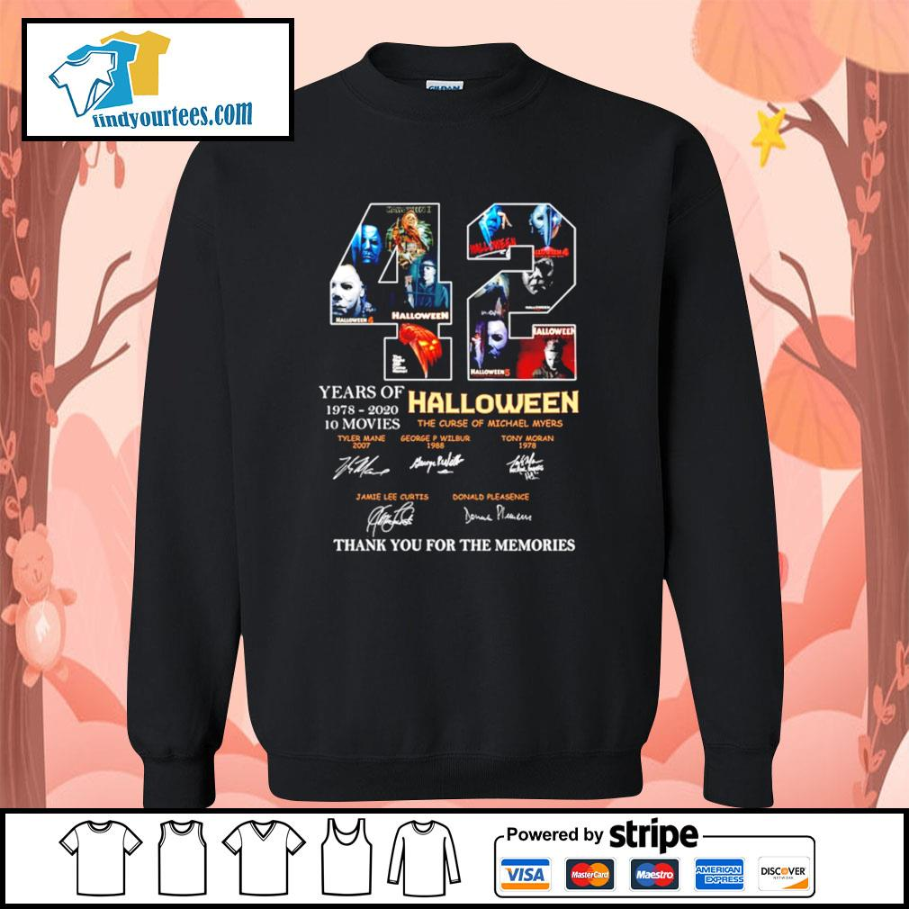 42 years of 1978 2020 10 movies Halloween thank you for the memories s Sweater