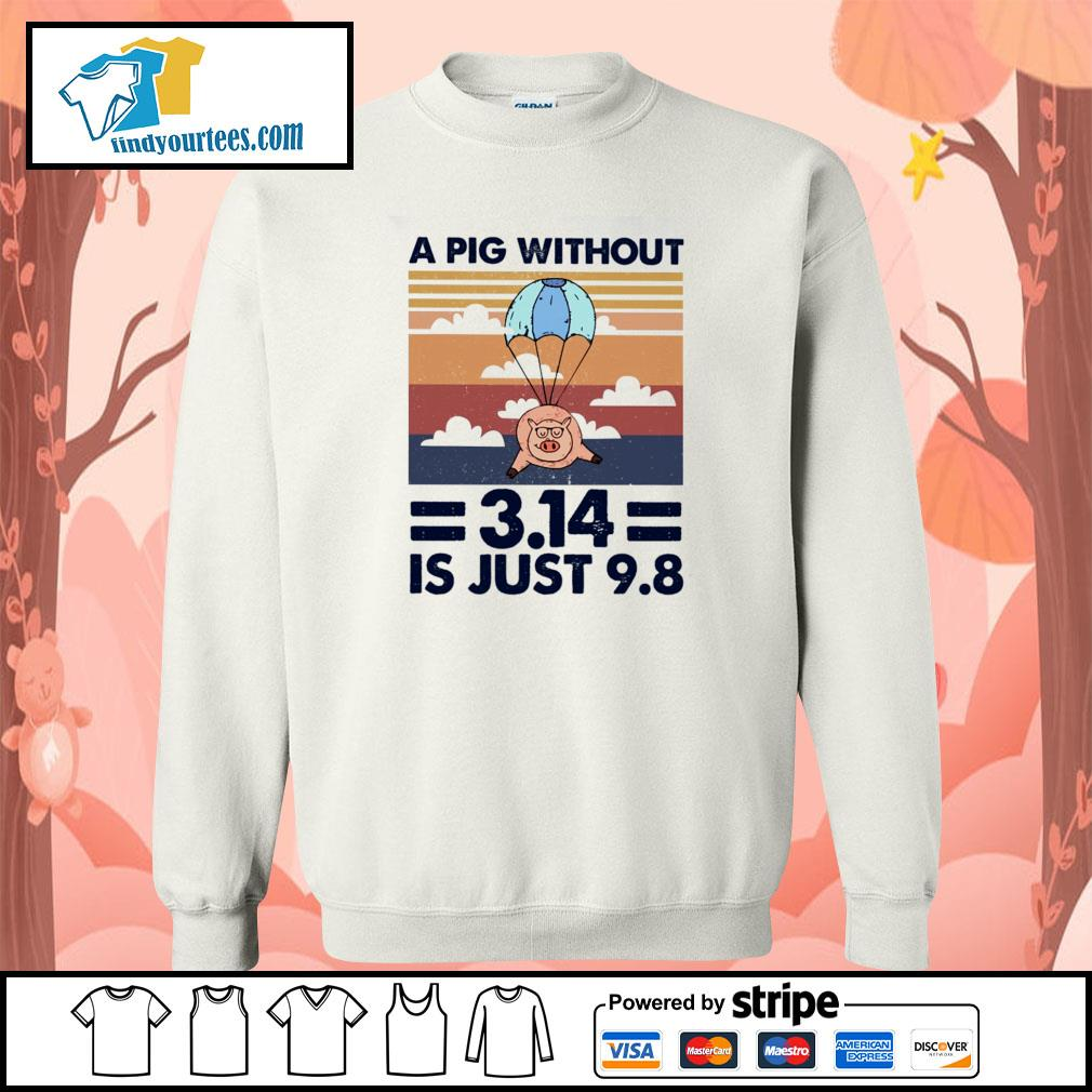A pig without 3.14 is just 9 8 vintage s sweater