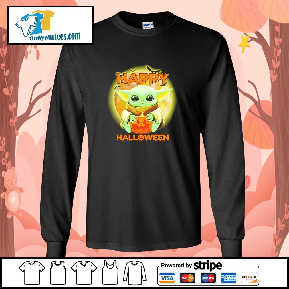 Baby yoda happy halloween s longsleeve-tee
