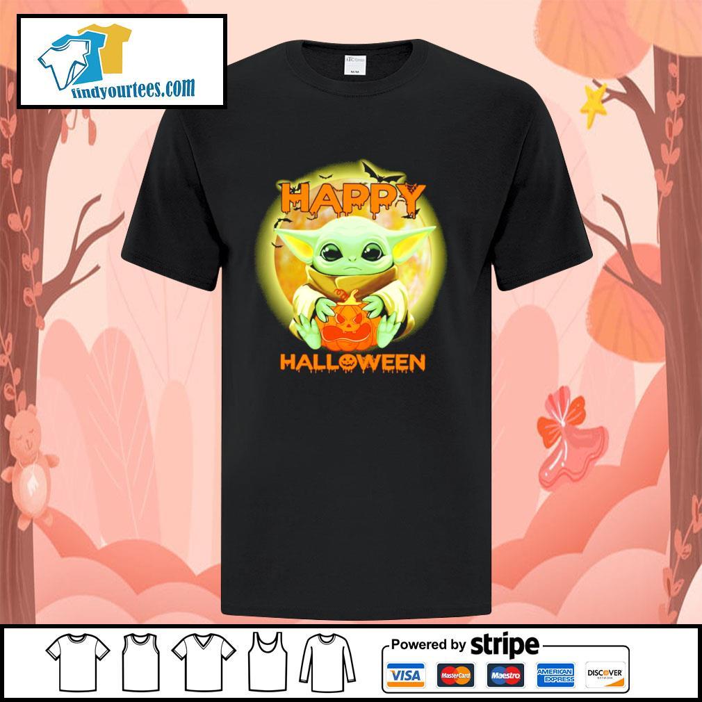 Baby yoda happy halloween shirt