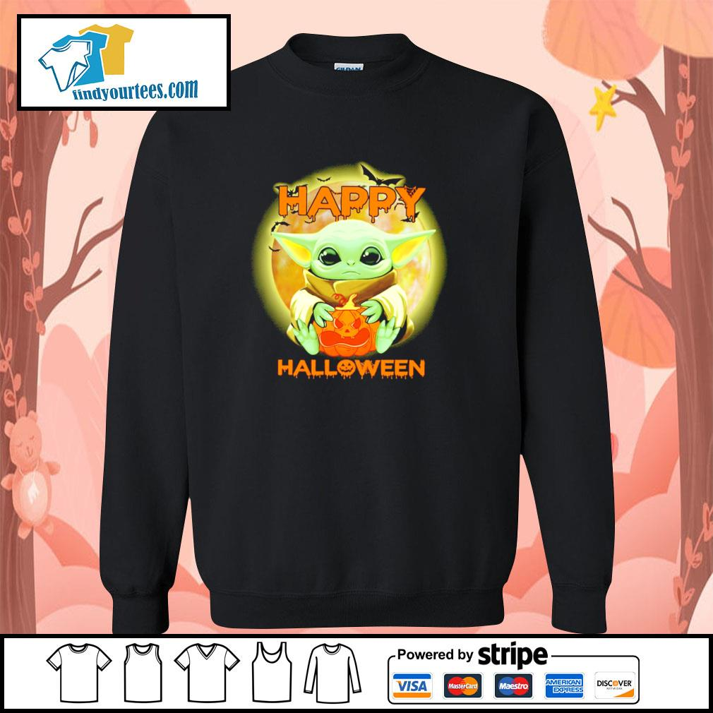 Baby yoda happy halloween s sweater