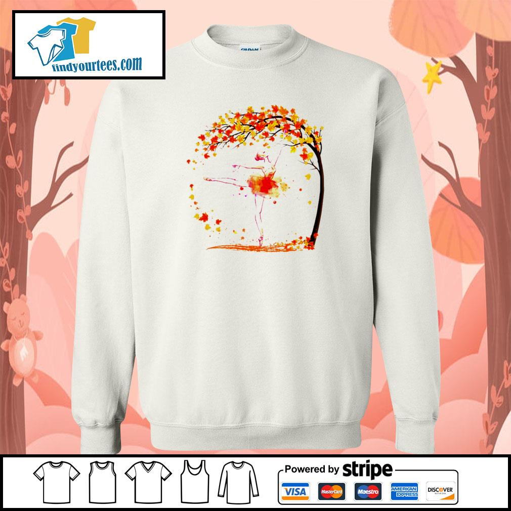 Ballet in autumn s sweater