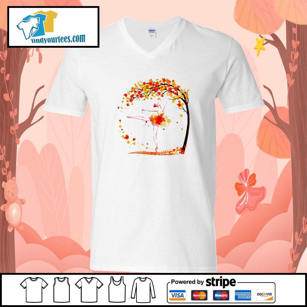 Ballet in autumn s v-neck-t-shirt