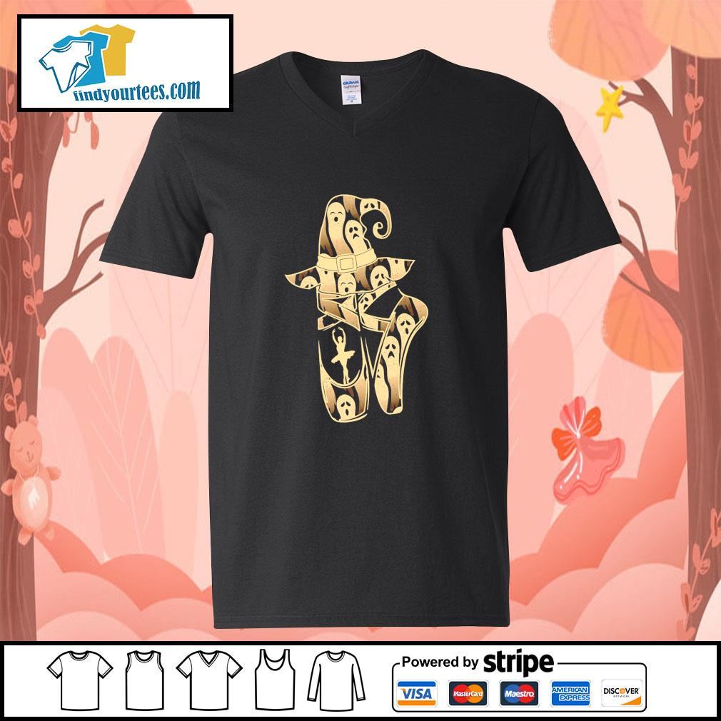 Ballet witch ghost halloween s v-neck-t-shirt