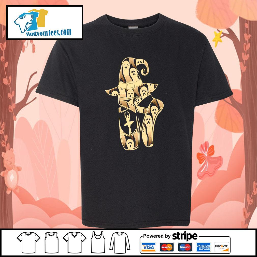Ballet witch ghost halloween s youth-tee