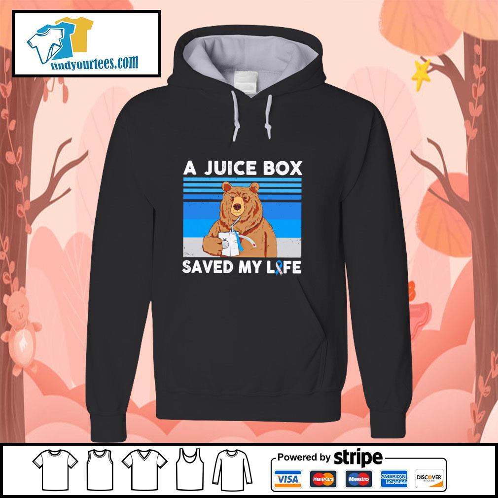 Bear a juice box saved my life gastric cancer s hoodie