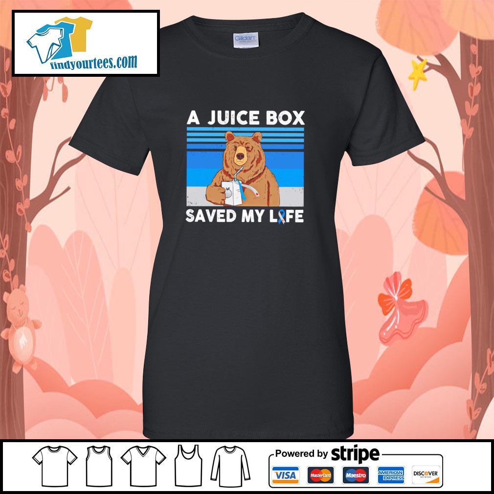 Bear a juice box saved my life gastric cancer s ladies-tee
