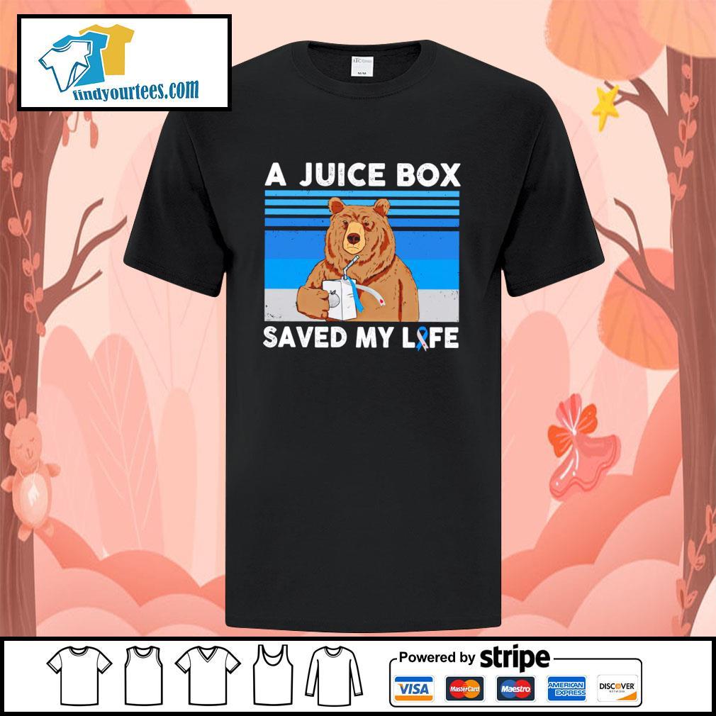 Bear a juice box saved my life gastric cancer shirt