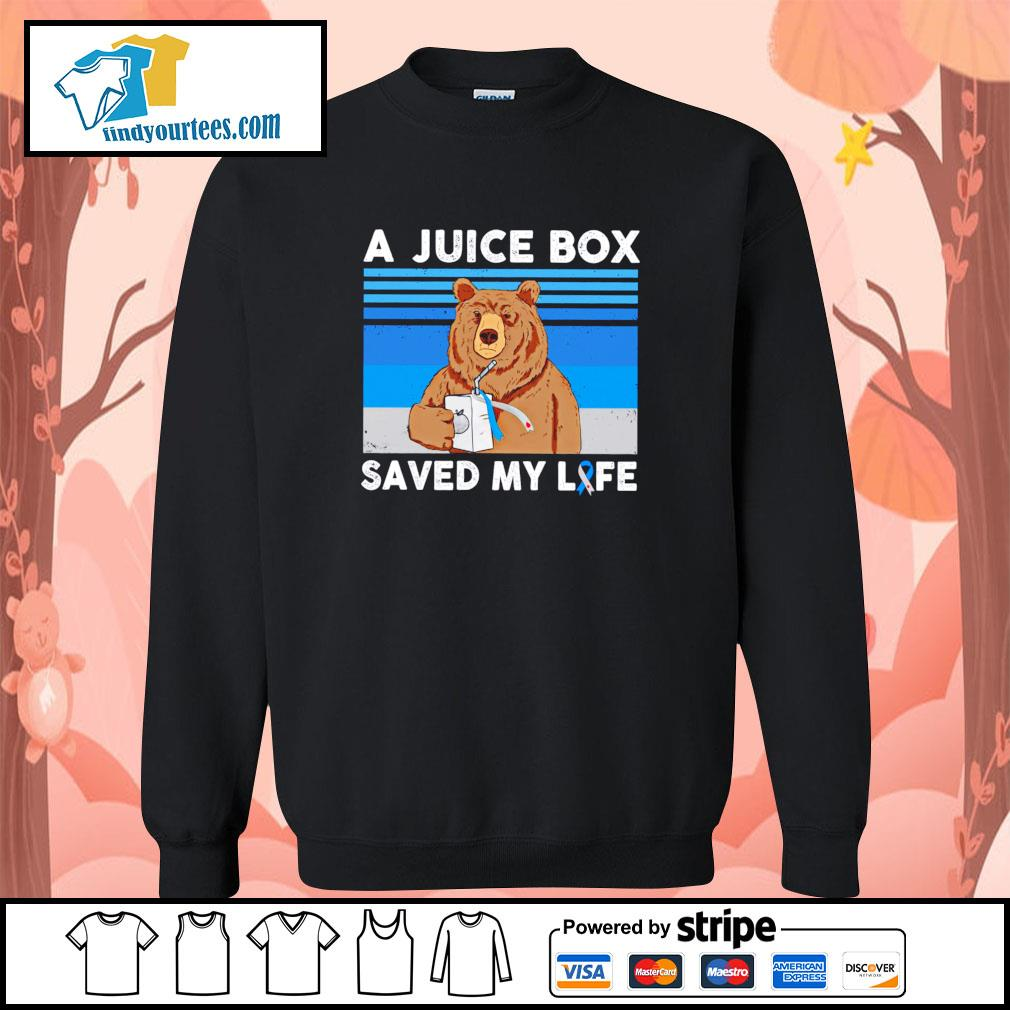 Bear a juice box saved my life gastric cancer s sweater