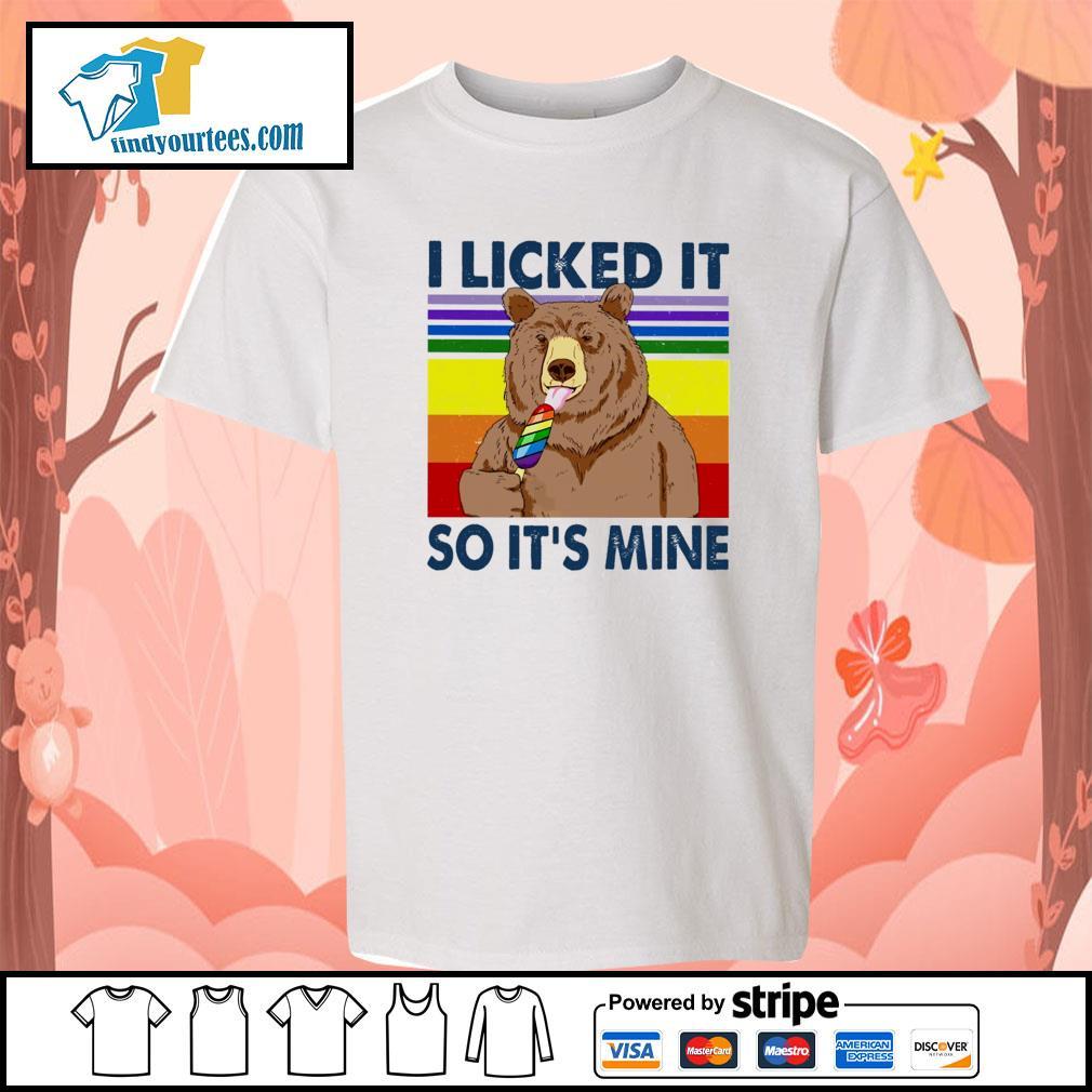 Bear I licked it so it's mine vintage s youth-tee