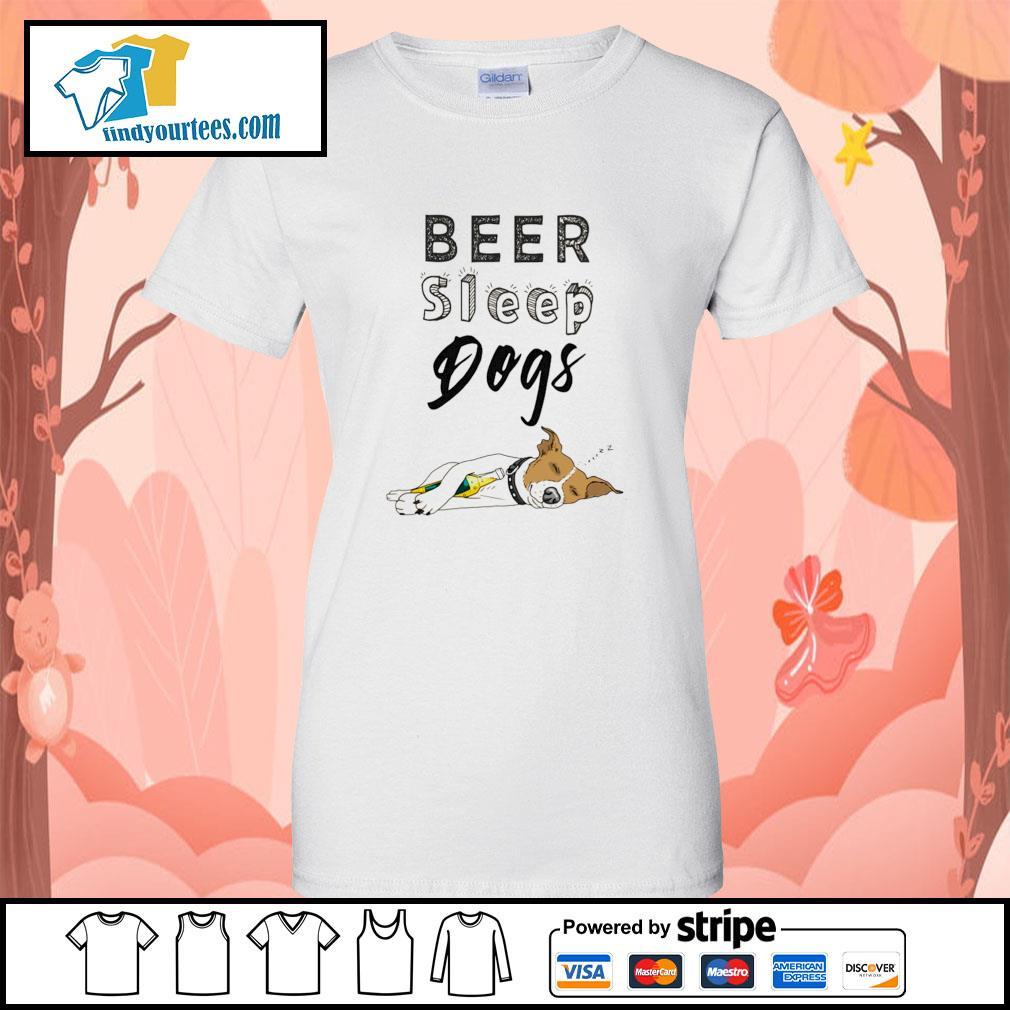 Beer sleep dogs s ladies-tee