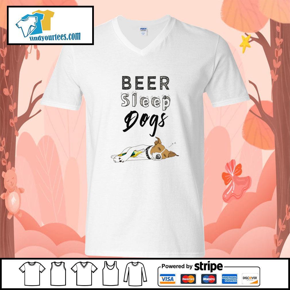 Beer sleep dogs s v-neck-t-shirt