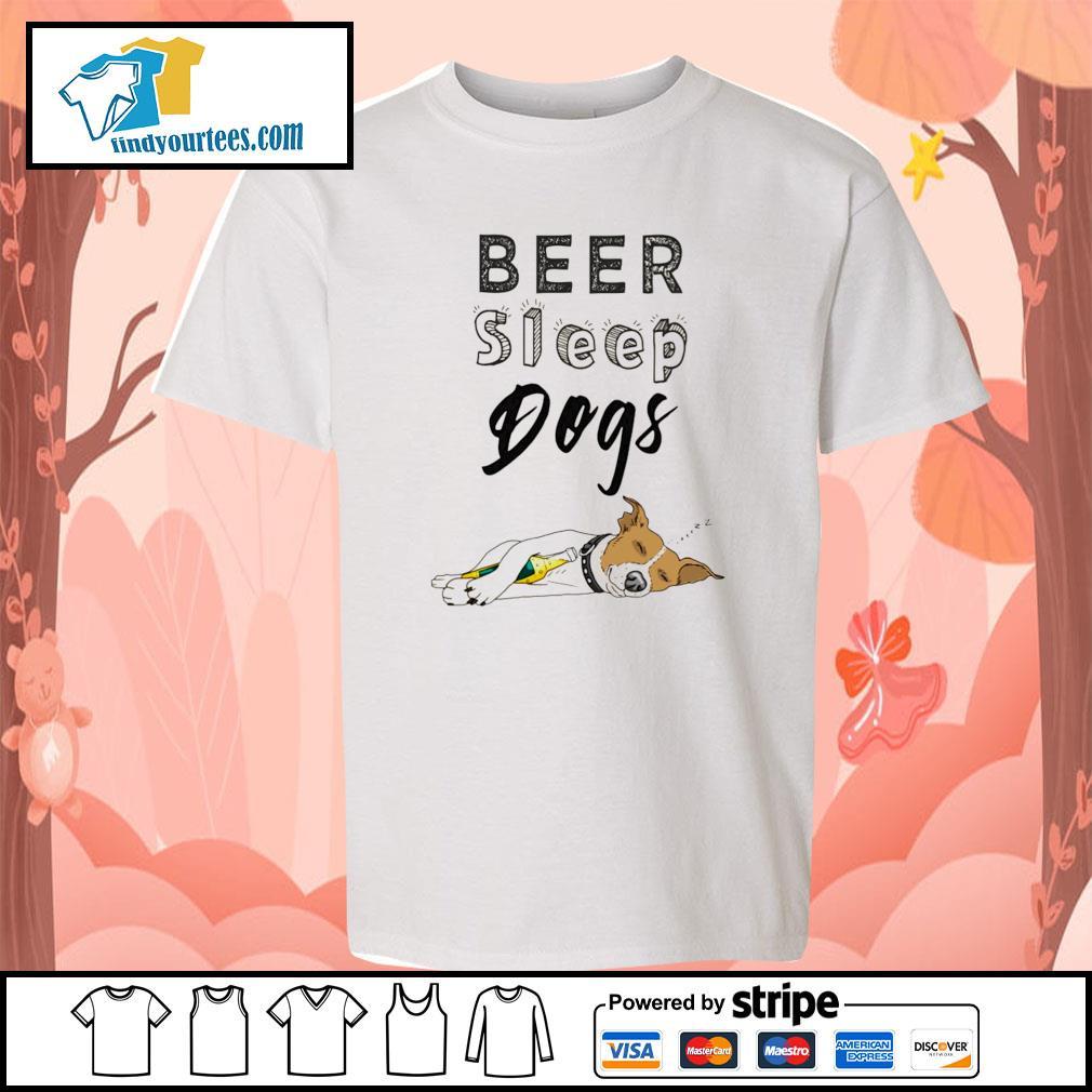 Beer sleep dogs s youth-tee