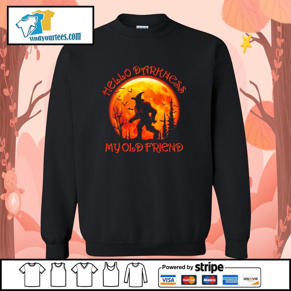 Bigfoot witch hello darkness my old friend halloween s sweater