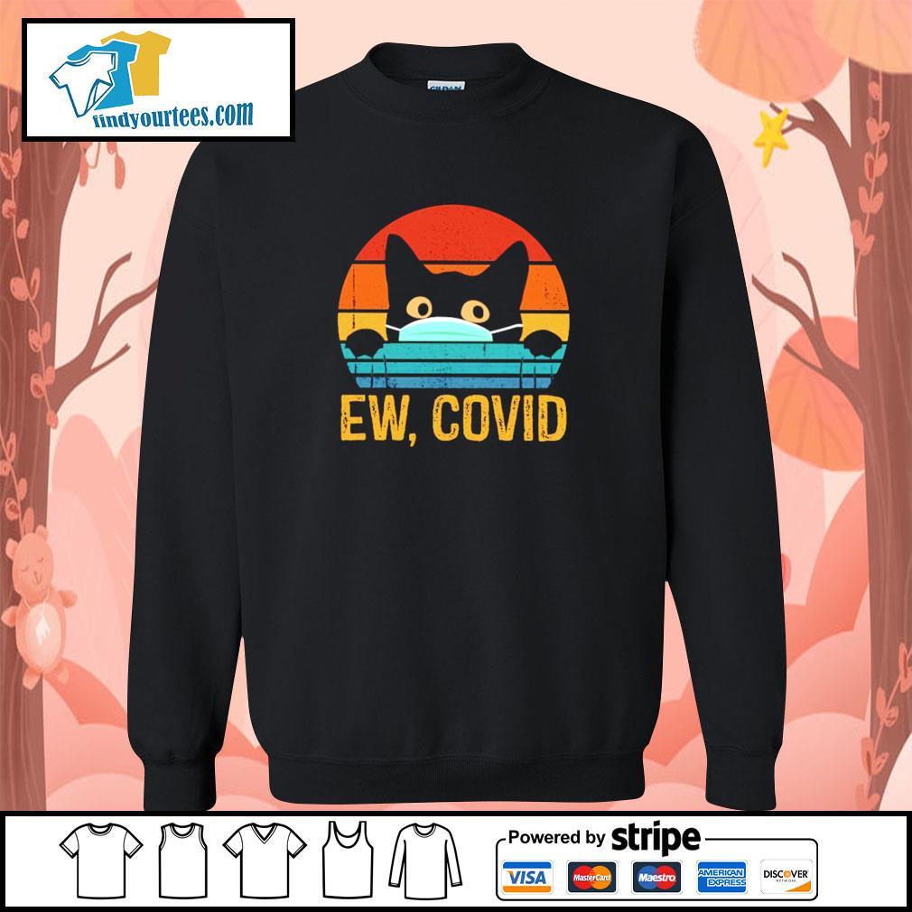 Black cat mask ew covid vintage s sweater