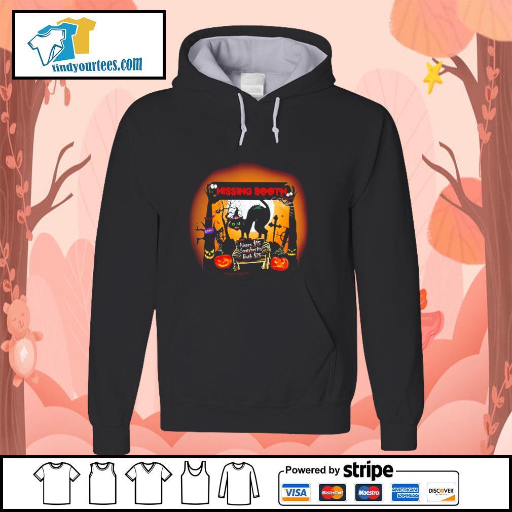 Black cat spooky hissing booth halloween s hoodie