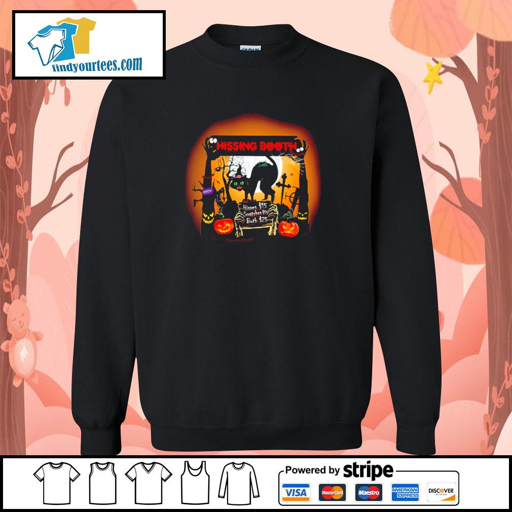 Black cat spooky hissing booth halloween s sweater