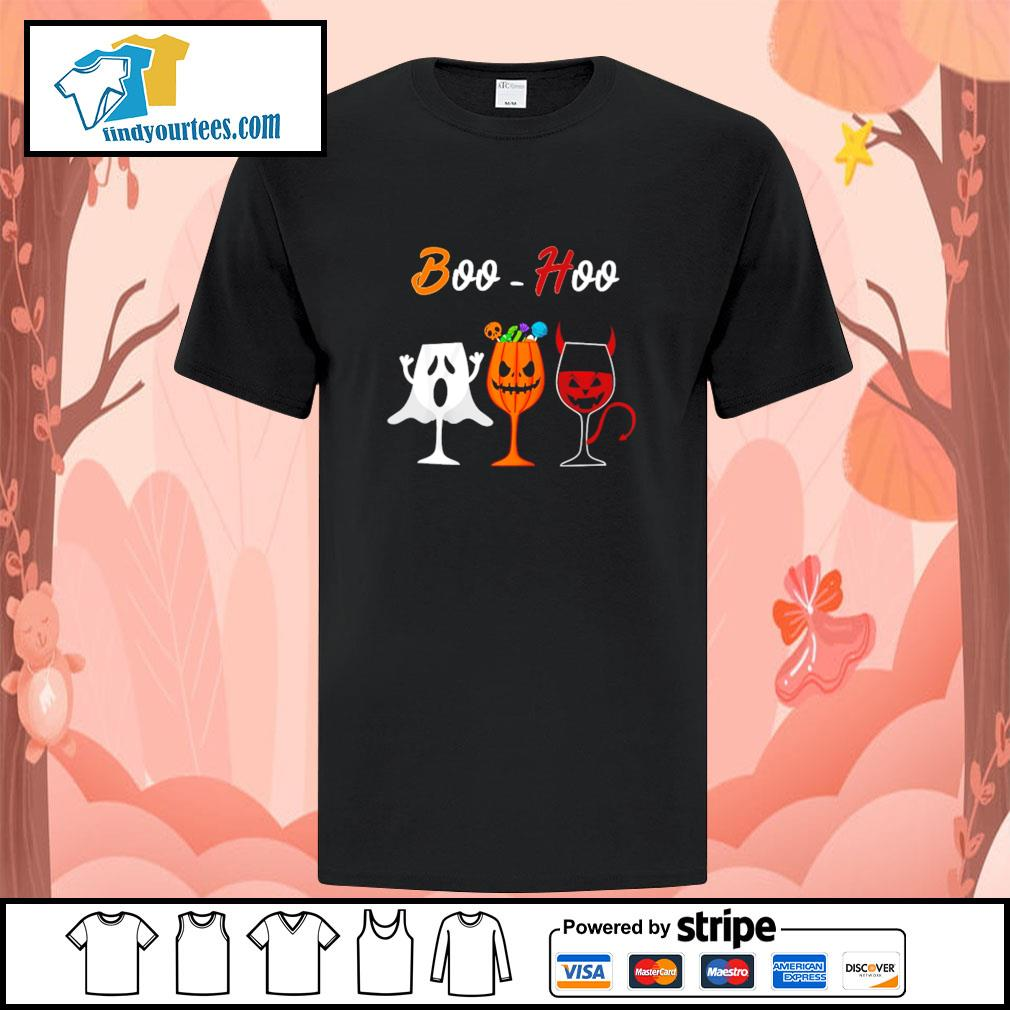 Boohoo ghost pumpkin wine halloween shirt