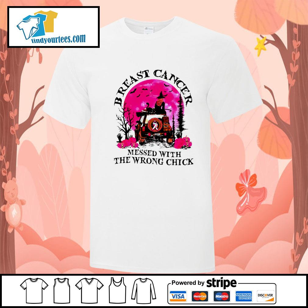 Breast cancer messed with the wrong chick halloween shirt