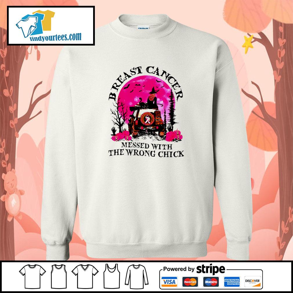 Breast cancer messed with the wrong chick halloween s sweater