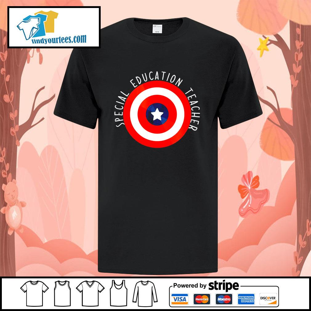 Captain america shield special education teacher shirt