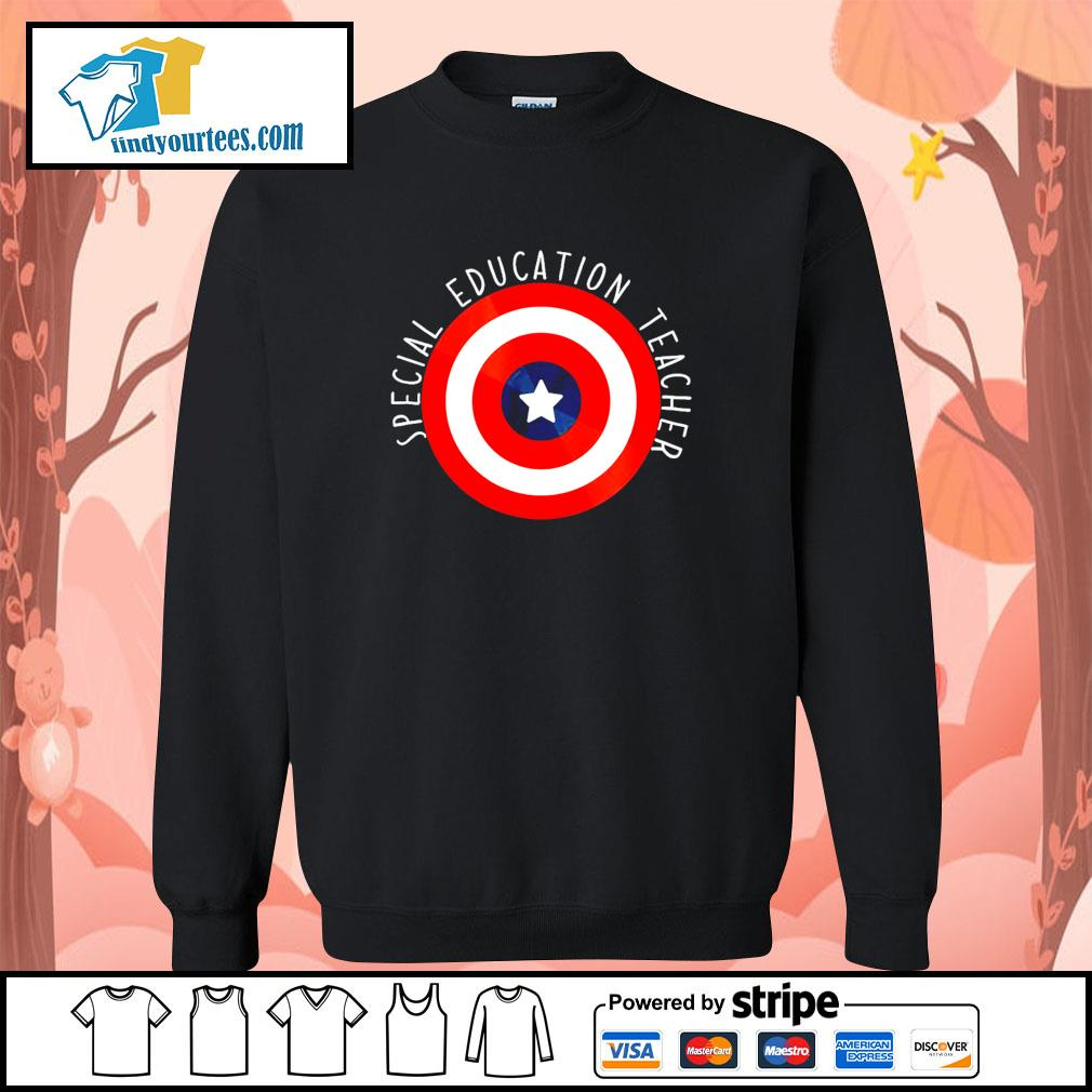 Captain america shield special education teacher s sweater
