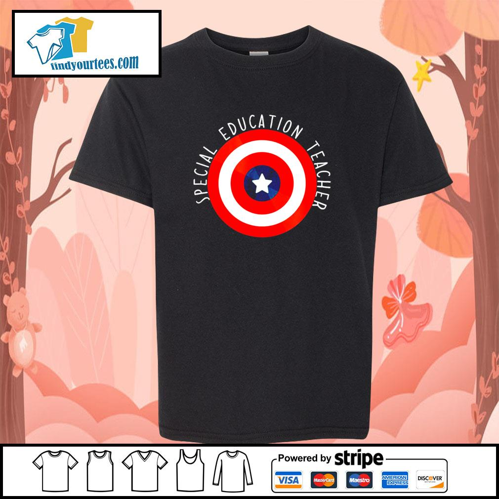 Captain america shield special education teacher s youth-tee