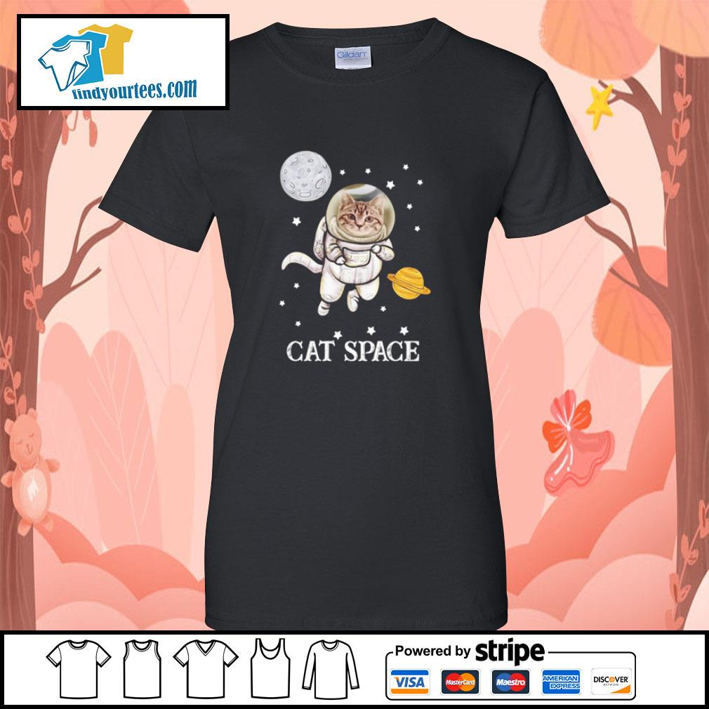 Cat astronaut space s ladies-tee