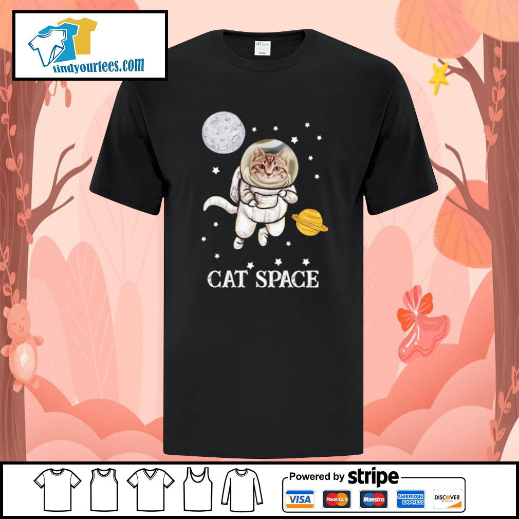 Cat astronaut space shirt