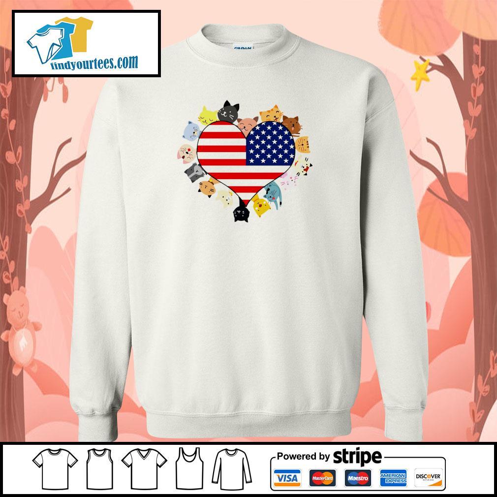 Cat love black live matter american flag s sweater