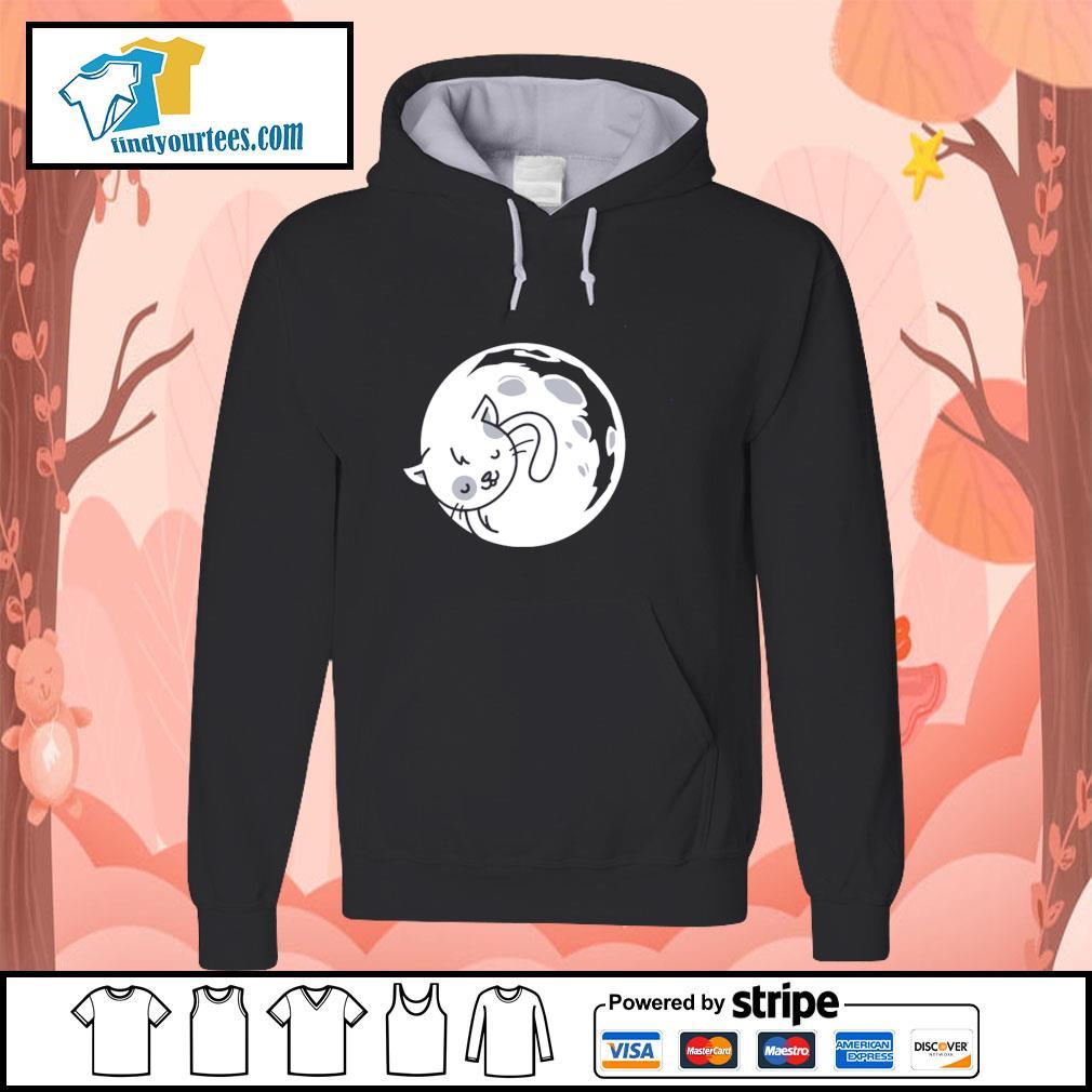 Cat moon sleeping s hoodie