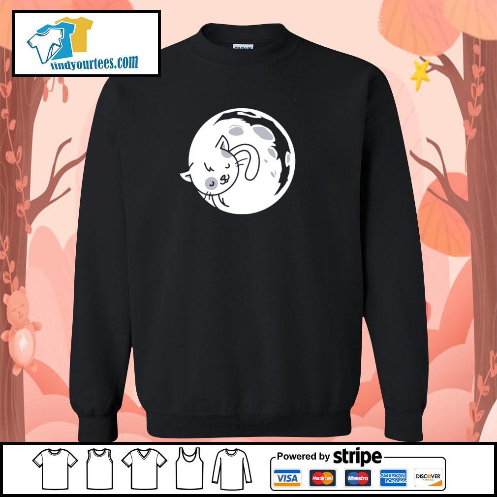 Cat moon sleeping s sweater