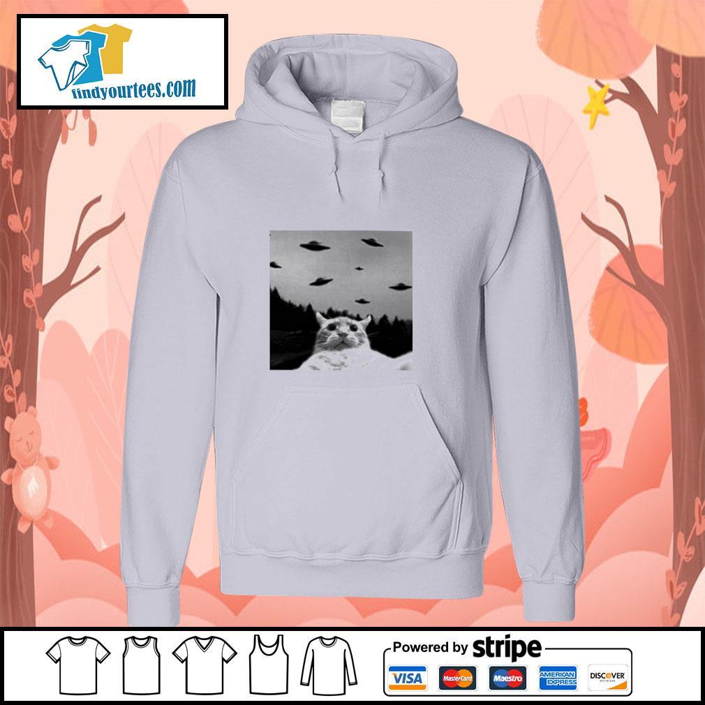 Cat selfie UFO s hoodie