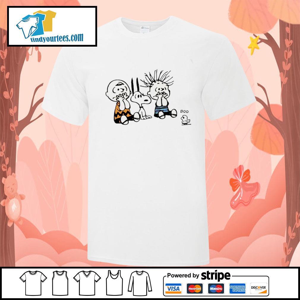 Charlie Brown snoopy woodstock boo shirt