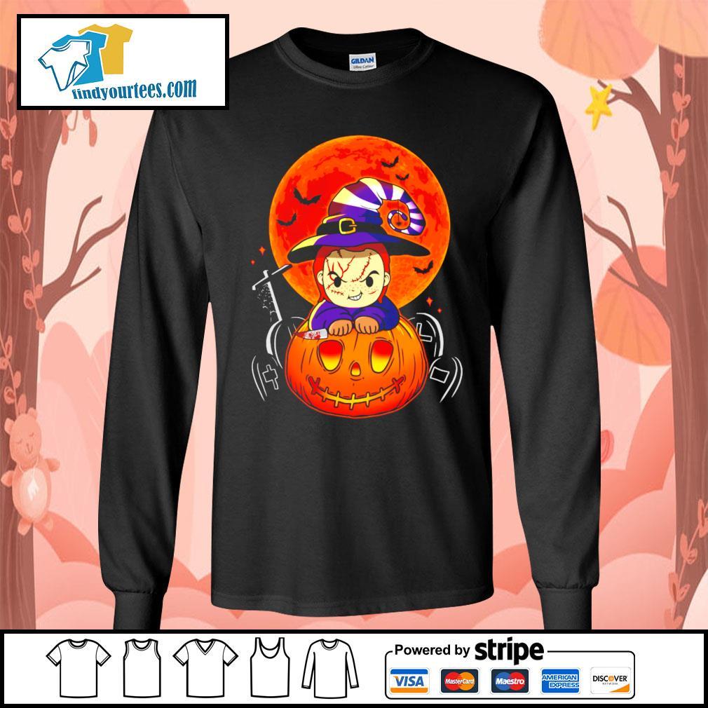 Chucky pumpkin Halloween s Long-Sleeves-Tee