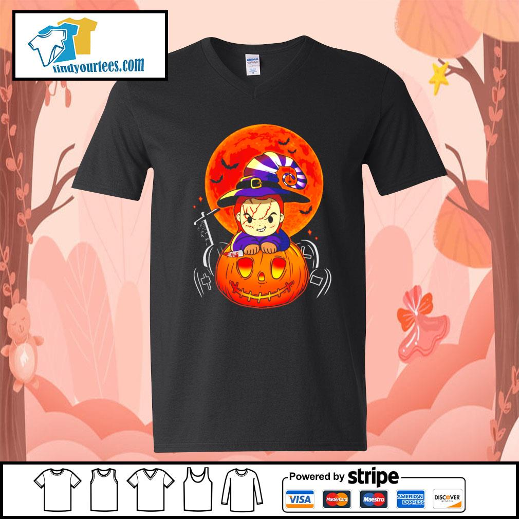 Chucky pumpkin Halloween s V-neck-T-shirt