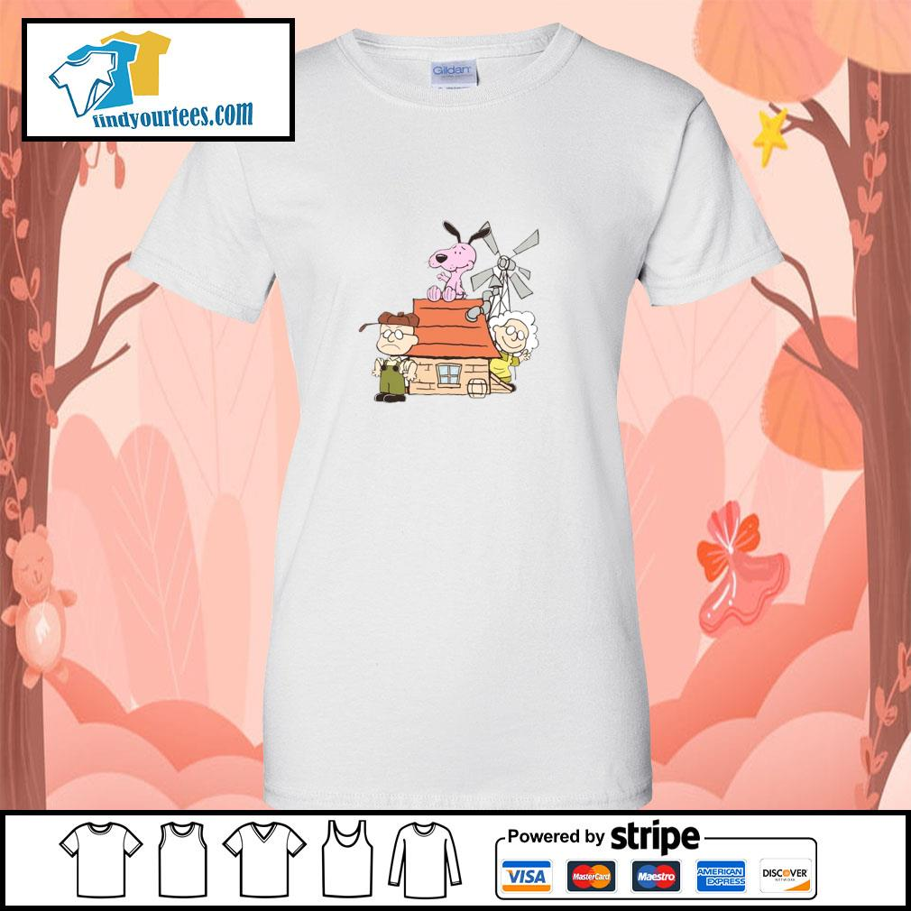 Courage the cowardly dog mashup the peanuts s ladies-tee