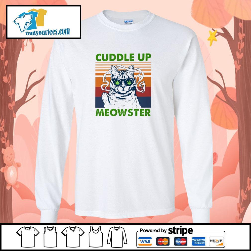 Cuddle up meowster weed vintage s longsleeve-tee
