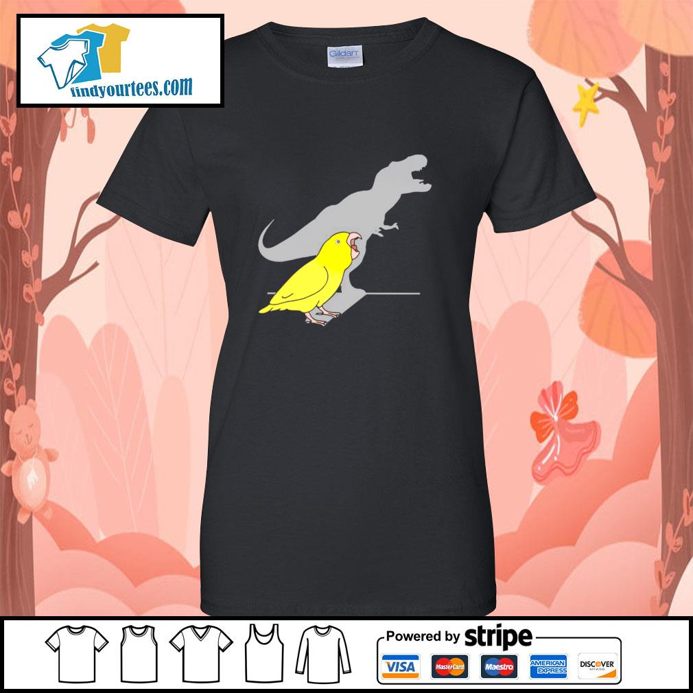 Dinosaur parrot real personality s ladies-tee