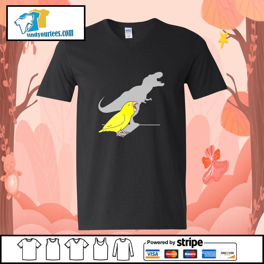 Dinosaur parrot real personality s v-neck-t-shirt