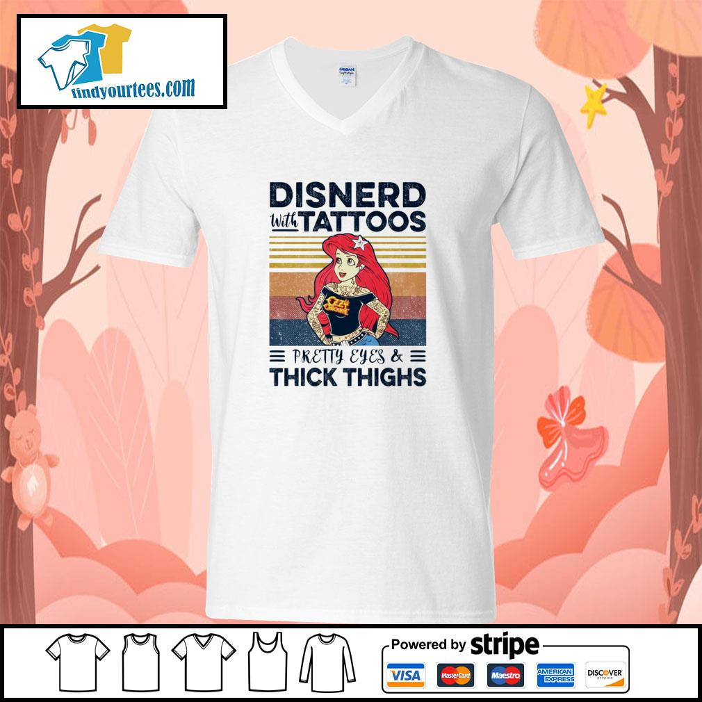 Disnerd with tattoos pretty eyes and thick thighs vintage s v-neck-t-shirt