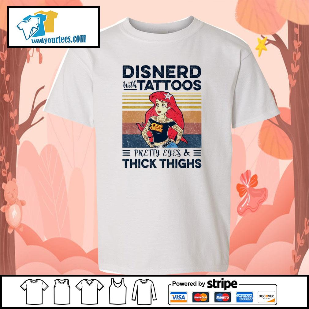 Disnerd with tattoos pretty eyes and thick thighs vintage s youth-tee