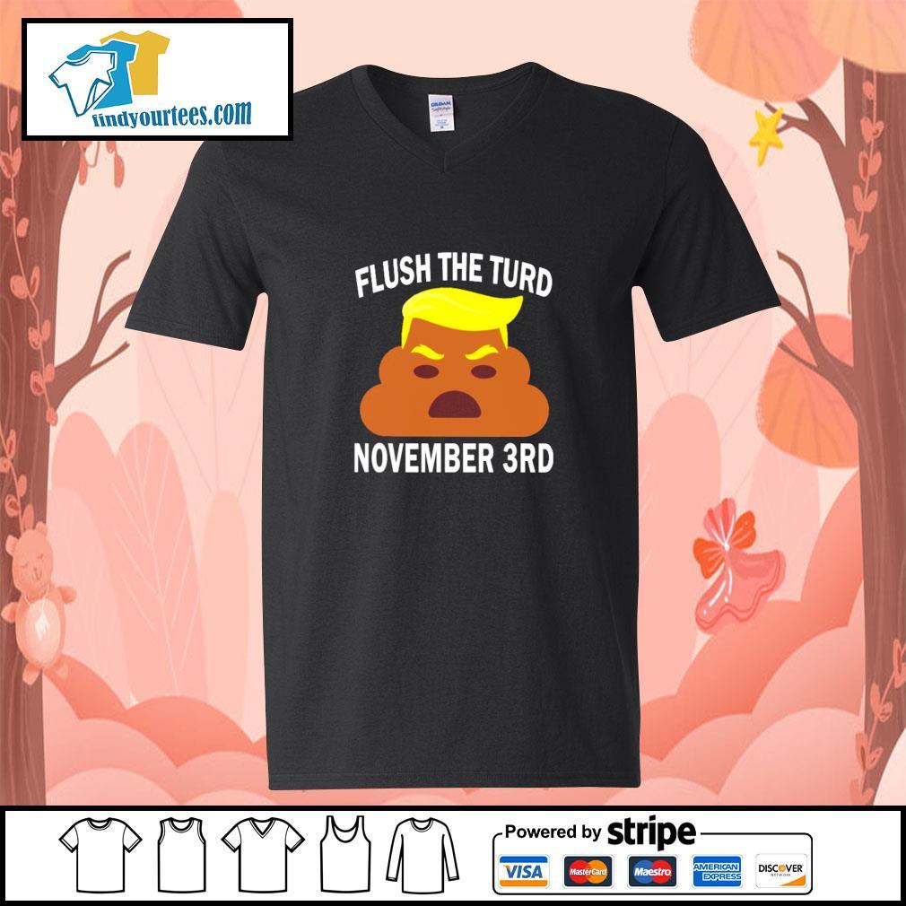 Donald trump flush the turd november 3rd s v-neck-t-shirt