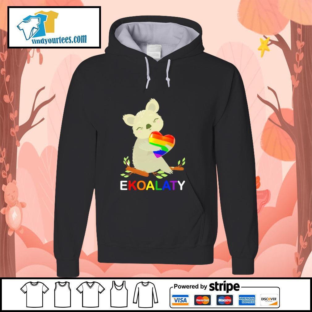 Ekoalaty hug heart LGBT s hoodie