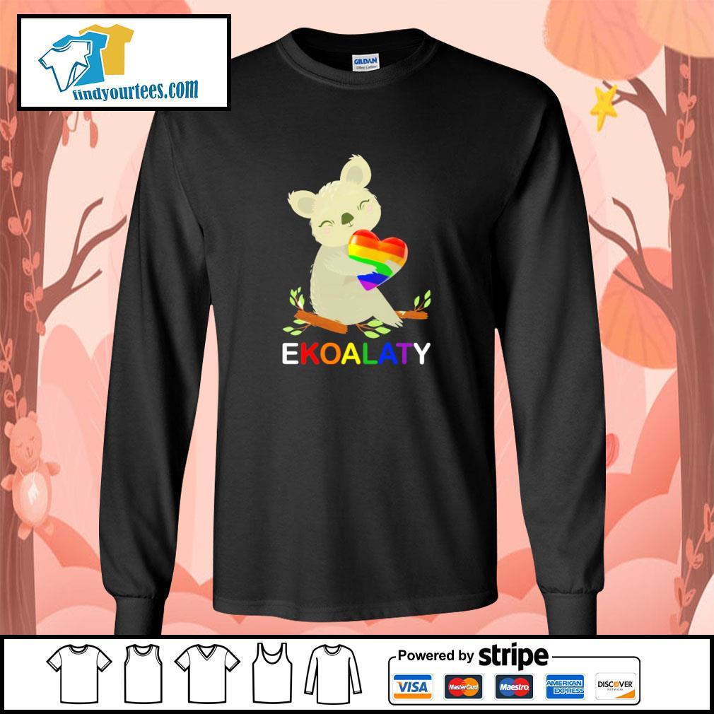 Ekoalaty hug heart LGBT s longsleeve-tee